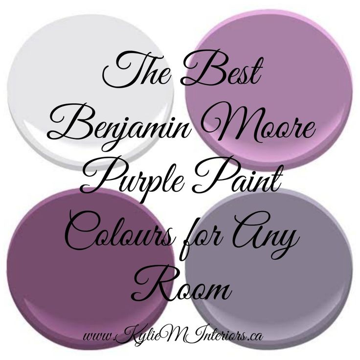 Looking for the most popular Benjamin Moore purple paint colours? Learn what room your favourite purple suit best and how to pick a purple that suits you.