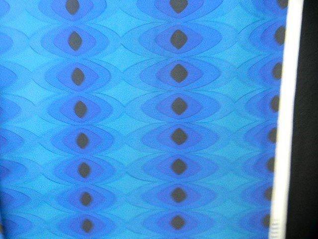 60S 70S Mod Mid-Century Op Art Vintage Fabric Curtain Abstract #108