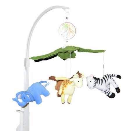 Bedtime Originals Baby Jungle Musical Mobile, Multicolor