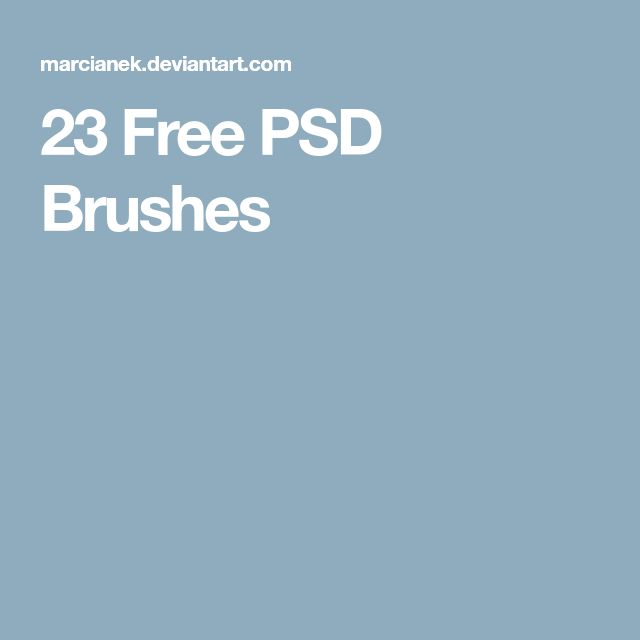 23 Free PSD Brushes