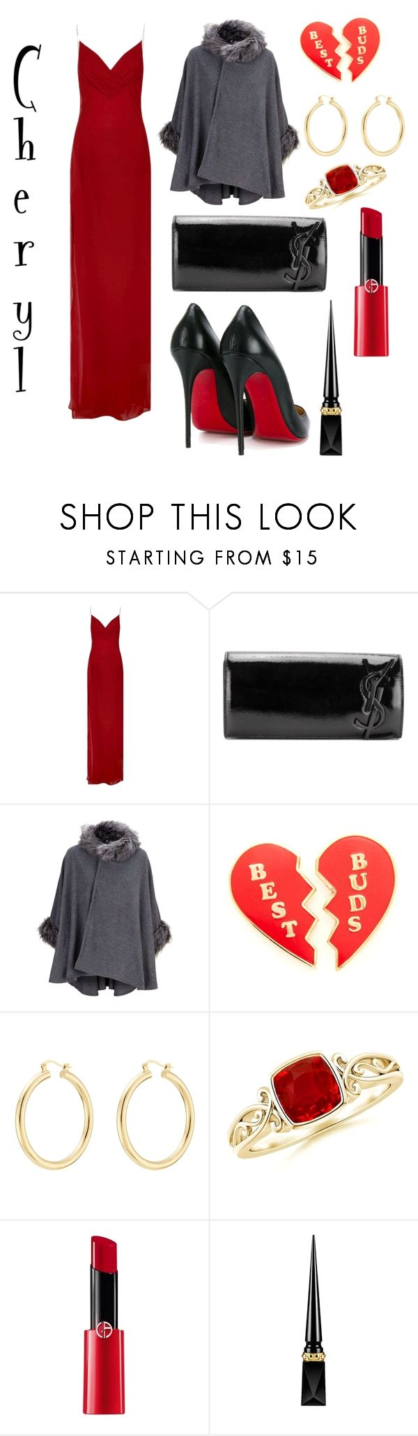 """Cheryl Blossom #1"" by xoxodaniella on Polyvore featuring Balmain, Yves Saint Laurent, Georgia Perry, Isabel Marant, Giorgio Armani and Christian Louboutin on the lookout for limited offer,no duty and free shipping.#shoes #womenstyle #heels #womenheels #womenshoes  #fashionheels #redheels #louboutin #louboutinheels #christanlouboutinshoes #louboutinworld"