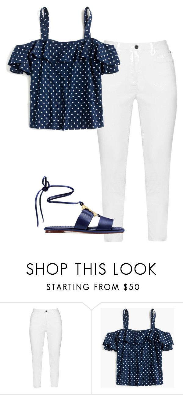 """Annie Leblanc"" by maedov on Polyvore featuring Zhenzi, J.Crew and Tory Burch"