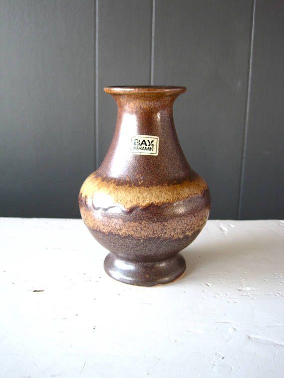Vintage Bay Keramik Pottery Vase  Pattern 66-14 Made in