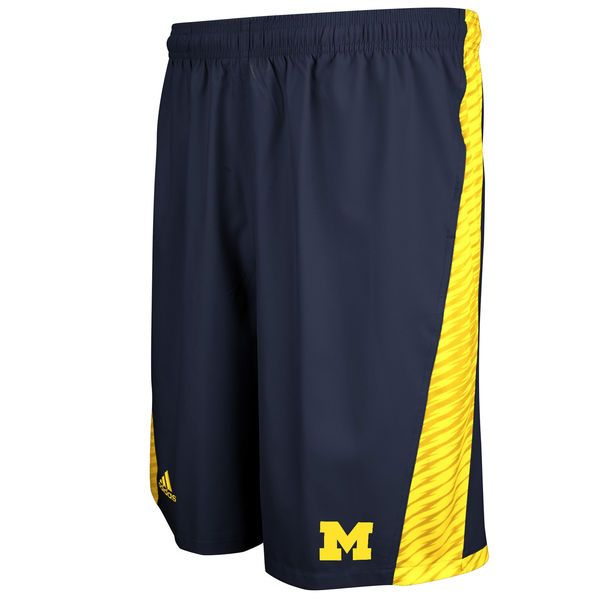 adidas Michigan Wolverines Football Sideline Player Shorts - Navy Blue - $37.99
