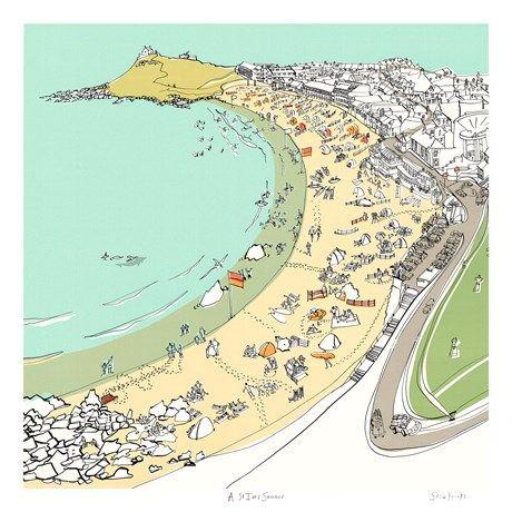 St Ives Summer Print