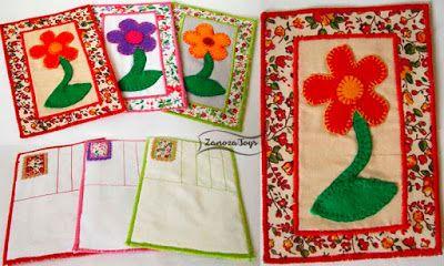 Шьем текстильные открытки вместе с Ольгой Helga-Cat