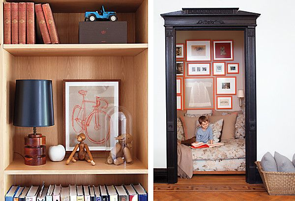 Take the door off a closet, insert overstuffed chair. Instant reading nook.