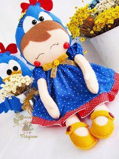 Girassóis Mágicos. Boneca de galinha pintadinha! Tao linda!!!