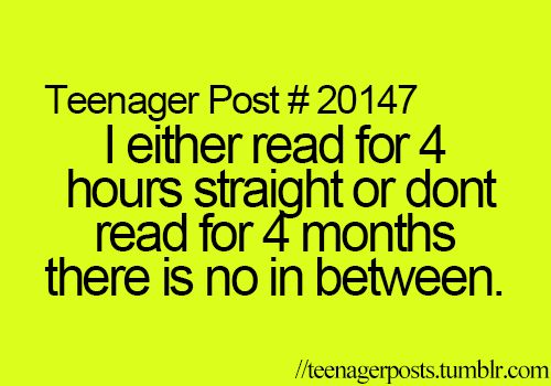 I swear if school, volleyball, and basketball didn't exist I would read for days at a time