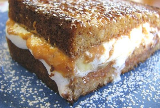 puffy banana peanut butter cup grilled sandwich. good lord.