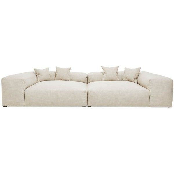 Edith Ann Sectional Sofa (546,300 PHP) ❤ liked on Polyvore featuring home, furniture, sofas, oversized furniture, tall back sofa, oversized couches, colored furniture and plush sofa