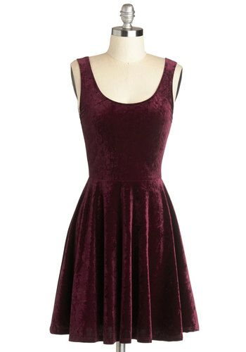 Velvet, If You Please Dress - Mid-length, Purple, Solid, Party, A-line, Tank top (2 thick straps), Good, Scoop, Minimal