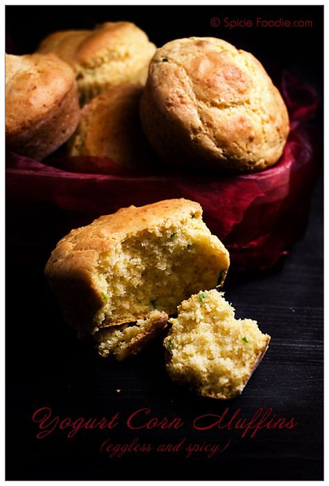 recipe; corn muffins; yogurt; spicy; cayenne; jalapeno; chile; green chile pepper; eggless; no egg; Spicie Foodie