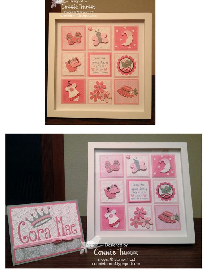 Baby  girl collage designed by Connie Tumm