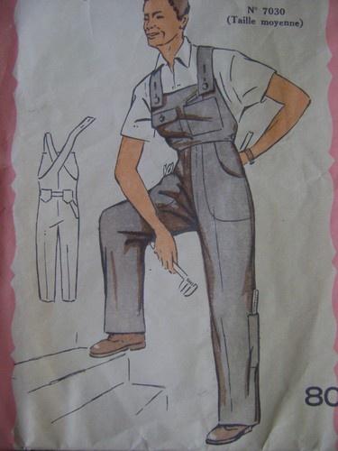Vintage retro 1950s mens boilersuit overalls sewing pattern | eBay