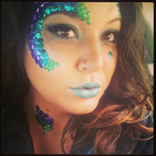 Halloween makeup ... mermaid makeup