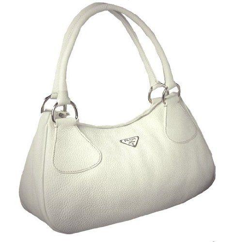 Prada BR0830 Handbag White Leather ? Clothing Impulse | Fashion ...