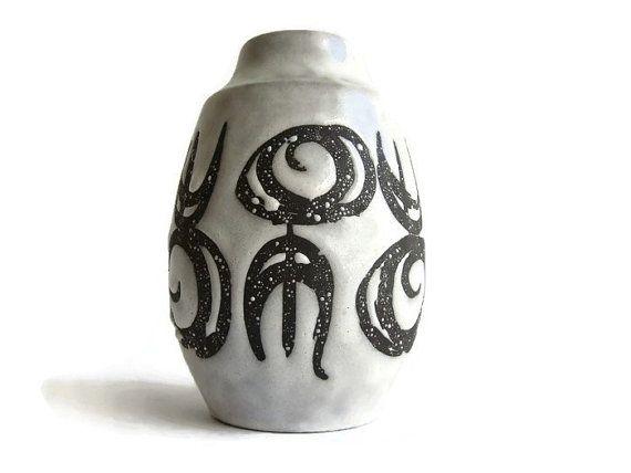 Vintage keramische vaas Jasba 138 15 West-Duits door VintageBreda
