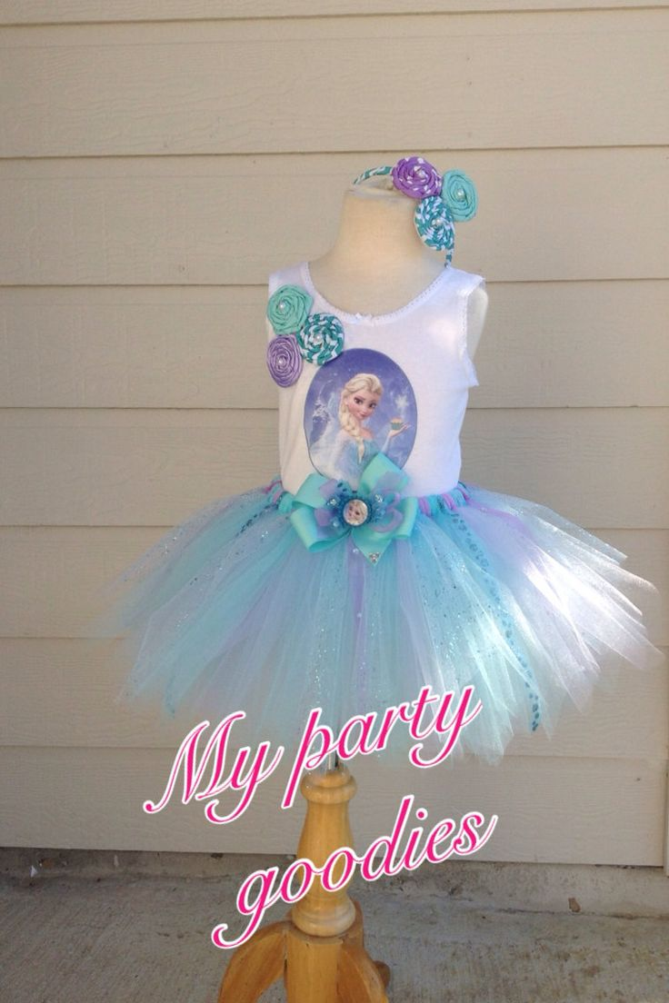Elsa birthday tutu Frozen tutu Elsa outfit tutu by Mypartygoodies