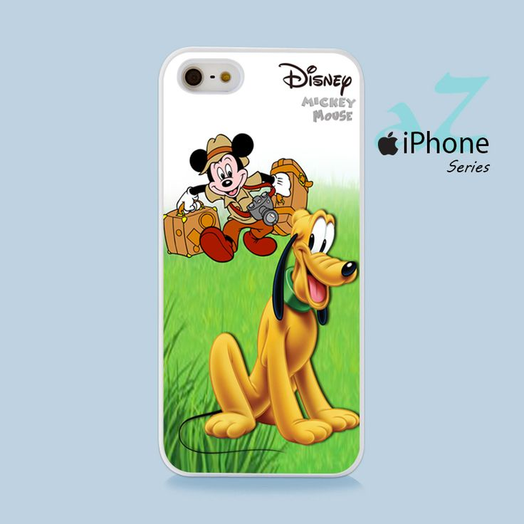 Mickey Mouse & Pluto Phone Case | Apple iPhone 4/4s 5/5s 5c 6/6s 6/6s Plus Samsung Galaxy S3 S4 S5 S6 S6 Edge S7 S7 Edge Samsung Galaxy Note 3 4 5 Hard Case