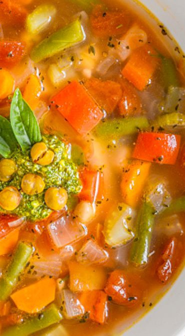 Mediterranean Garbanzo Bean Soup