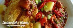 Ikan Goreng Dengan Sayuran - Gebakken visfilet met groente in een zoet/zure saus - Fried fish fillet with vegetables in sweet and sour sauce