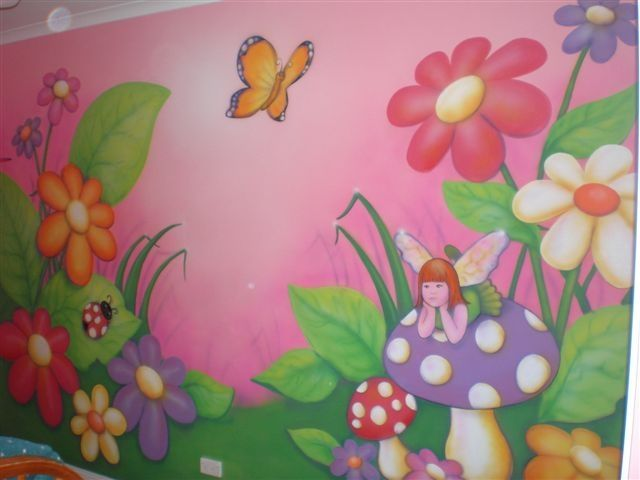17 best ideas about garden mural on pinterest painted for Fairy garden wall mural