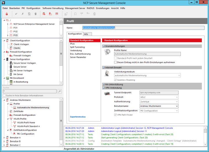 NCP optimiert sein vollautomatisches VPN Management System