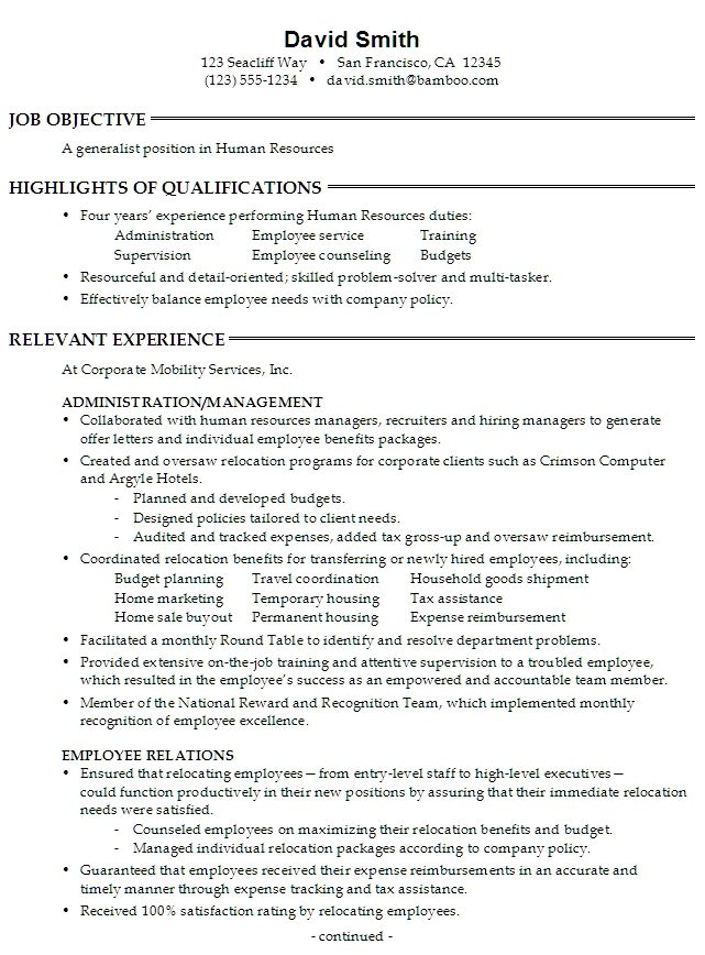 Human Resources Human Resources Resume Functional Resume Human Resources Resume Human Resources Resume Objective Examples