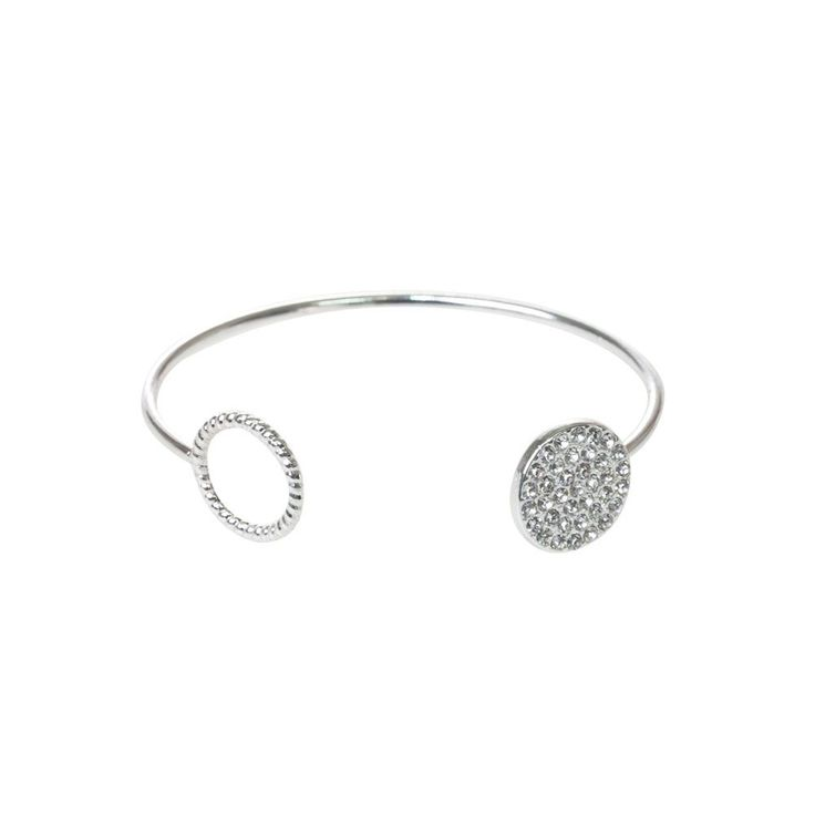 TAKE YOUR LITTLE BLACK DRESS TO THE NEXT LEVEL WITH THE SILVER OPEN CUFF.
