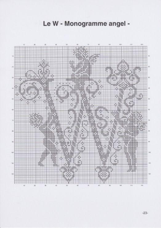 Gallery.ru / Фото #26 - JD327 - Monogrammes Angels - lyulnar