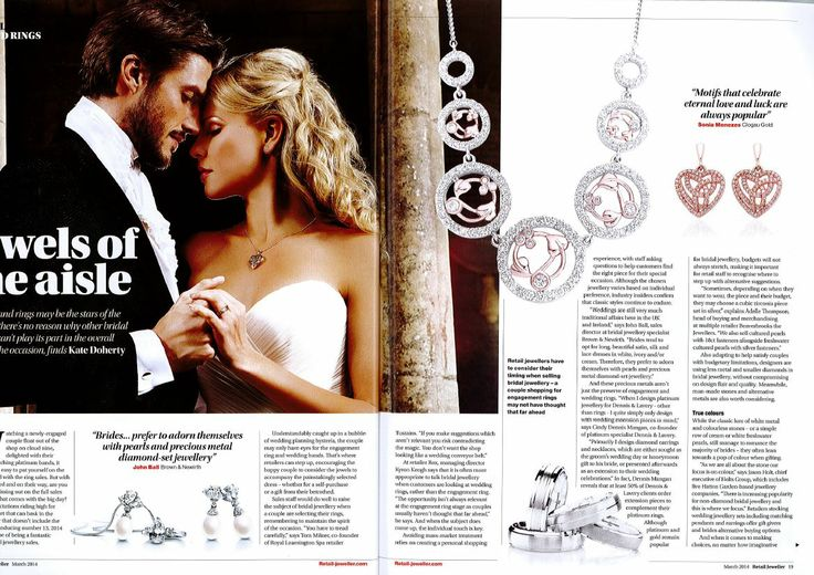 Diamonds are a brides best friend! Our gorgeous Tree of Life Diamond necklace and Eternal Love diamond earrings are featured in Retail Week this week