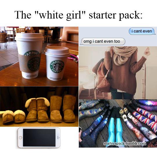 basic white girl starter pack - Google Search