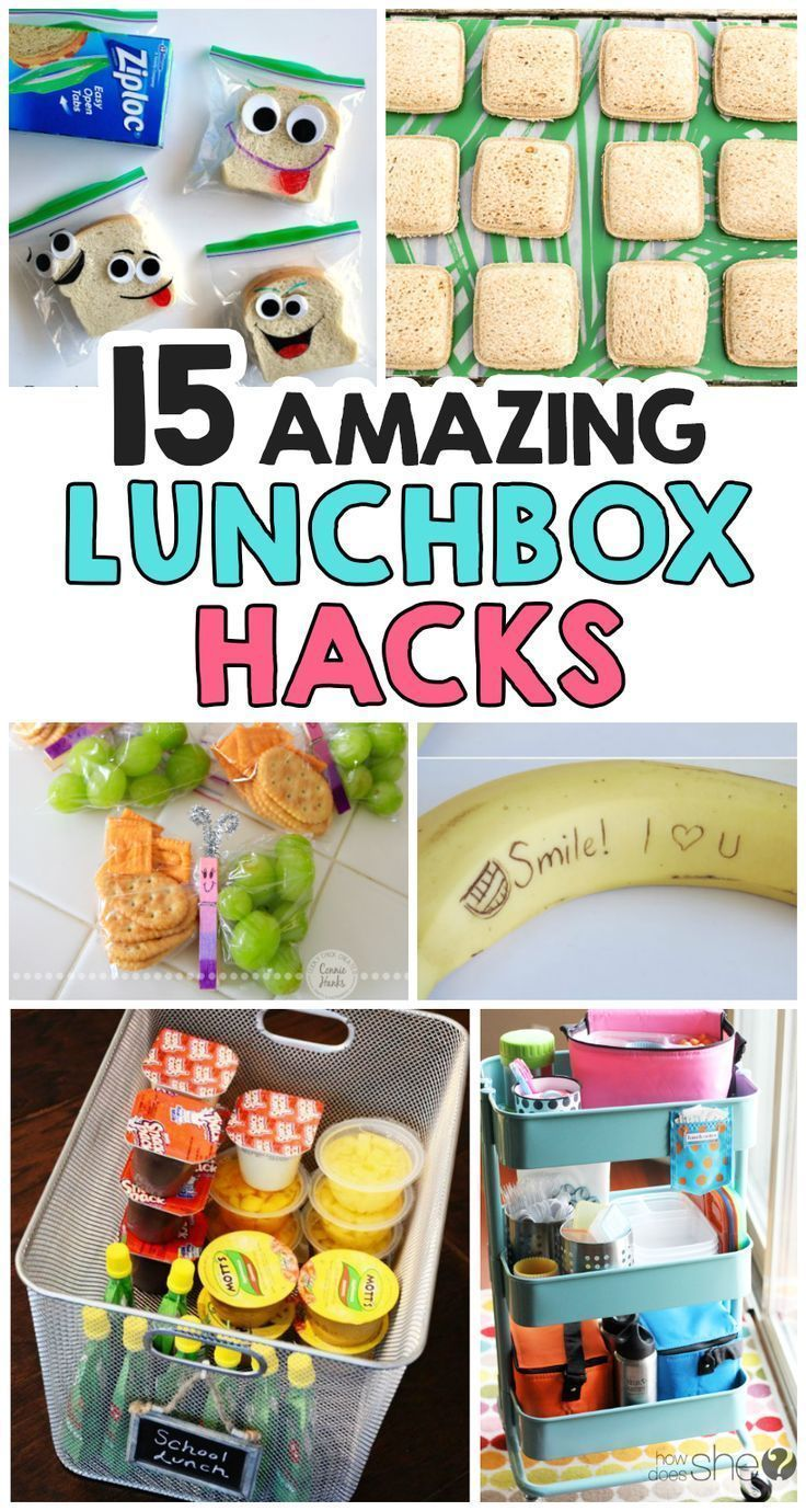 What cute lunchbox ideas! 15 Amazing Back To School Lunchbox Hacks. I love the banana idea!