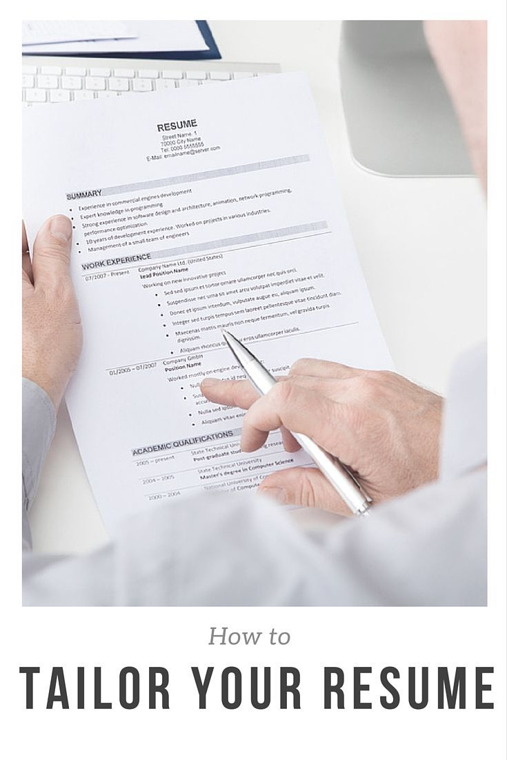 How to Tailor Your Resume to any Job Posting