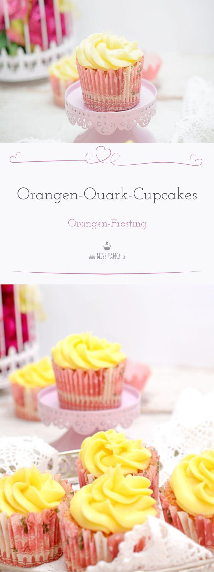 Leckere Cupcakes mit Quark und Orange