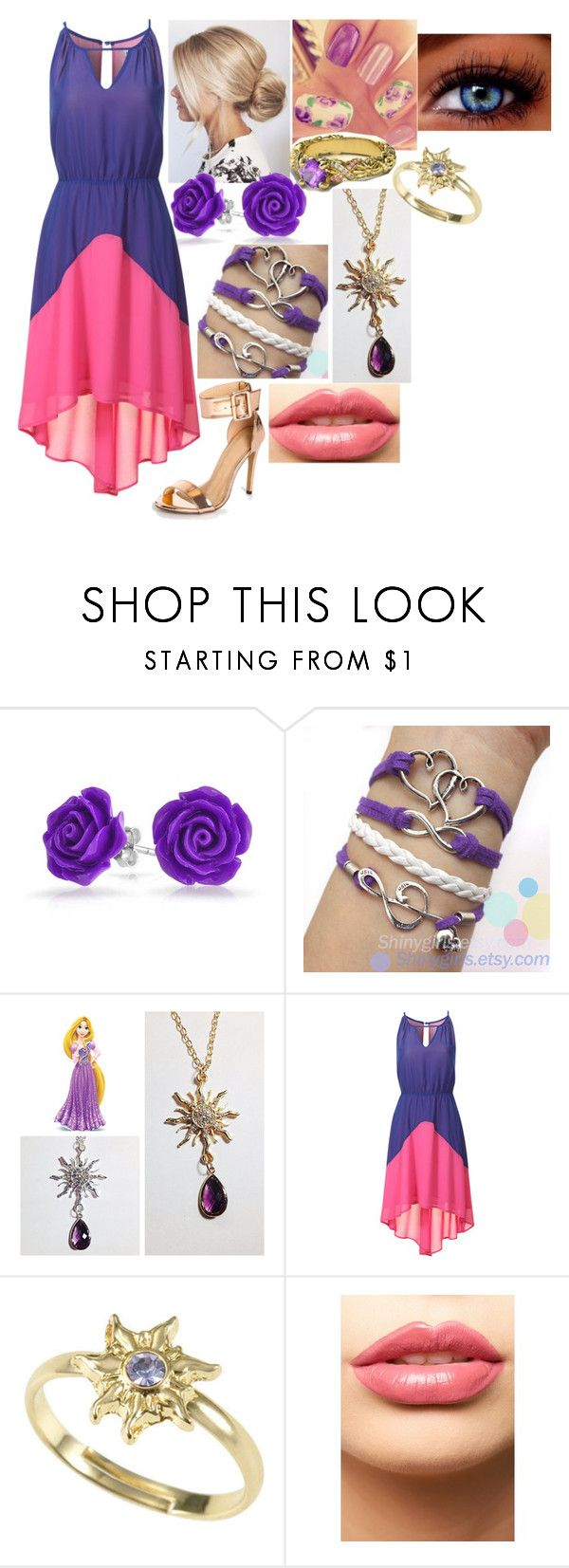 """Disney's Descendants: Rapunzel and Eugene's Daughter"" by sophie-quake-jones ❤ liked on Polyvore featuring Bling Jewelry, Disney, Alice & You and LASplash"