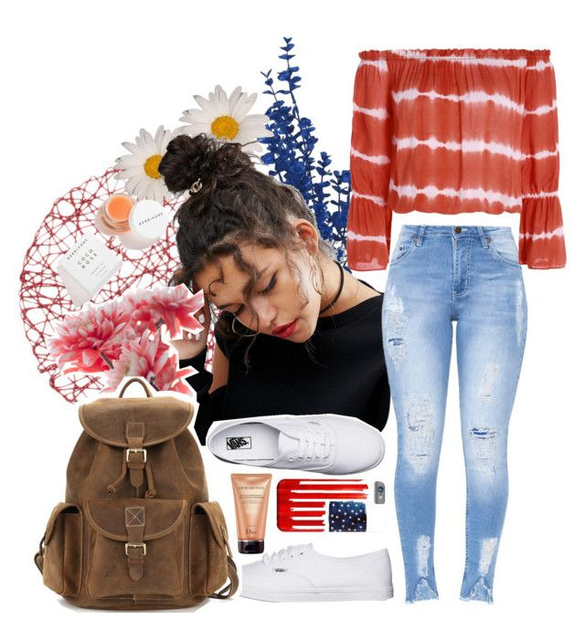 """""""//happy fourth 🇺🇸//"""" by maggiesmelody ❤ liked on Polyvore featuring ASOS, Vans and Christian Dior"""