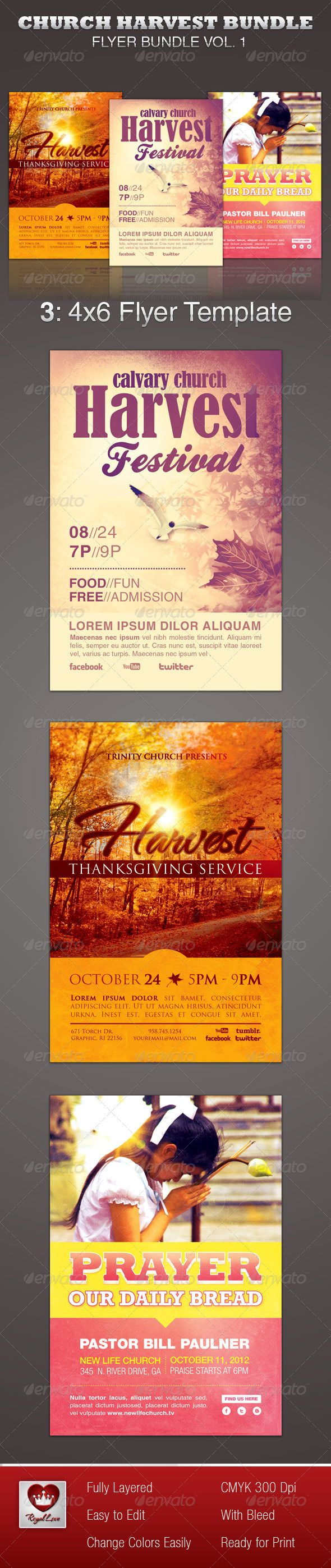 best images about layout business flyer church harvest flyer template bundle