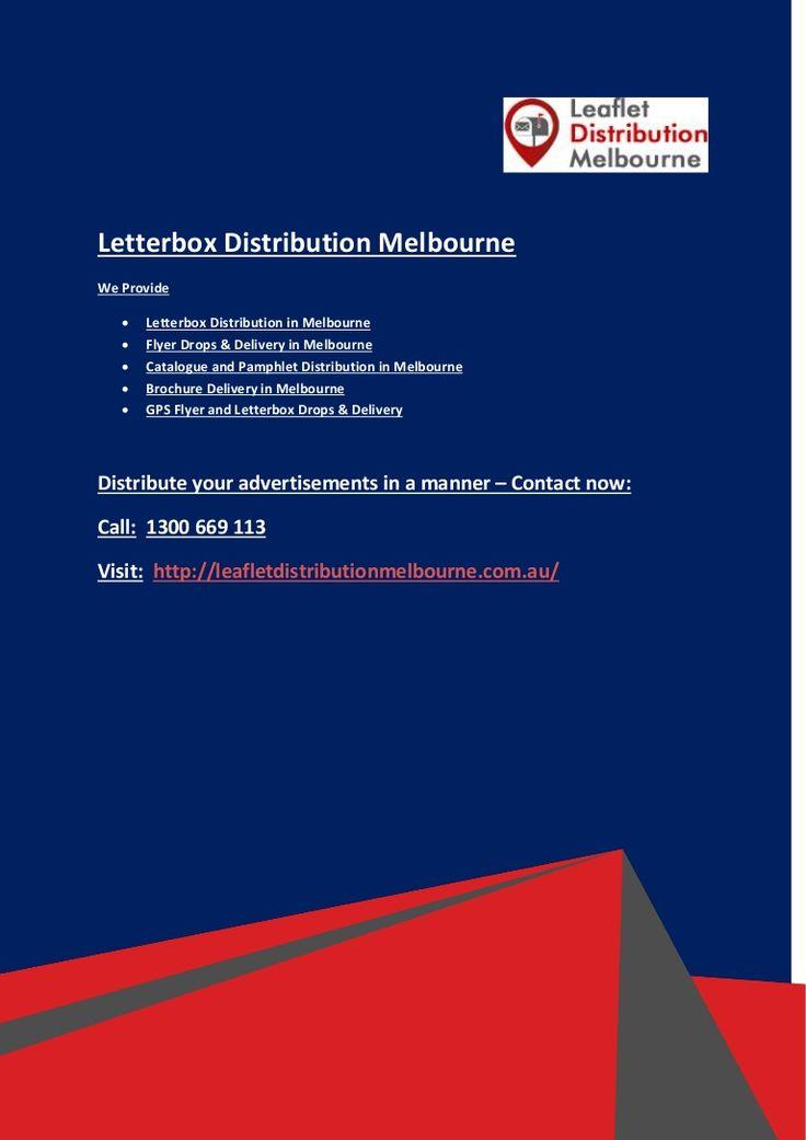 Get unbundled flyer #distribution in #Melbourne. We have providing high quality #Leaflet distributors, b2b distribution, #brochure distribution, #pamphlet delivery and #GPS letterbox distribution in Melbourne.