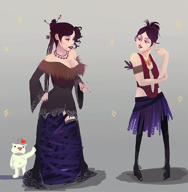 Dragon Age: Morrigan probably employs the same stylist as Lulu (Final Fantasy X)