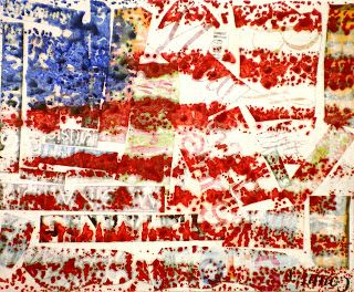 "Spot of Color: 4th Grade Jasper Johns ""Encaustic"" Flags"