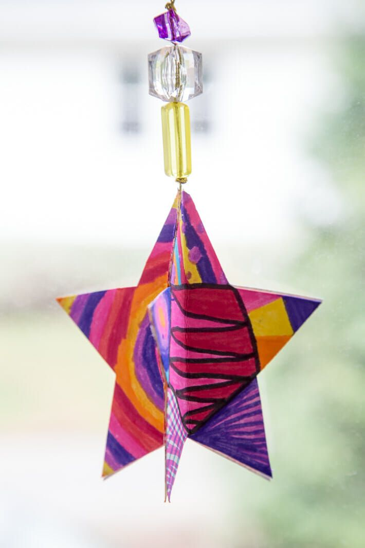 3d Paper Star Ornaments Learn How To Make This Great Christmas