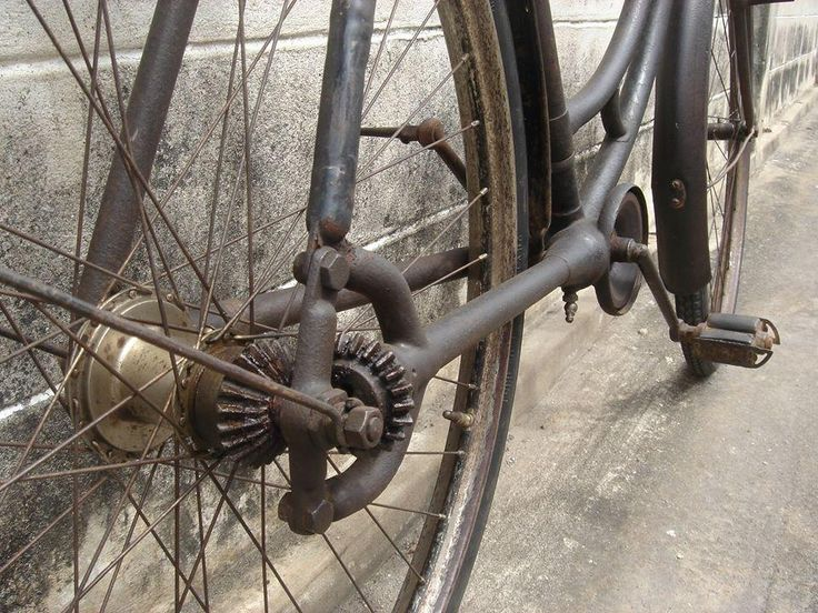 Bike with a bevel gear