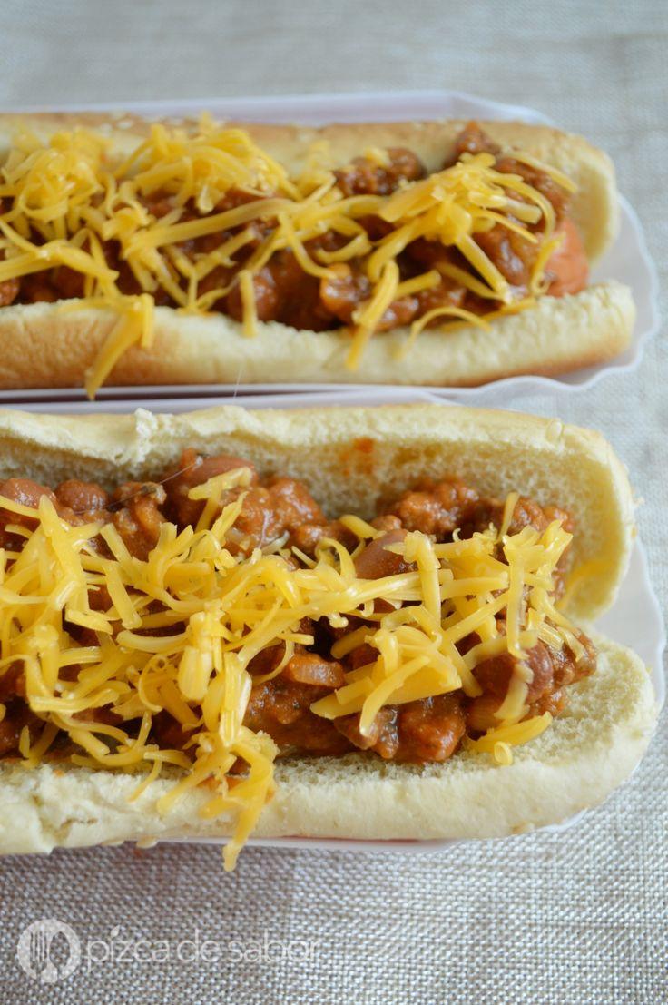 Chili dogs fáciles www.pizcadesabor.com