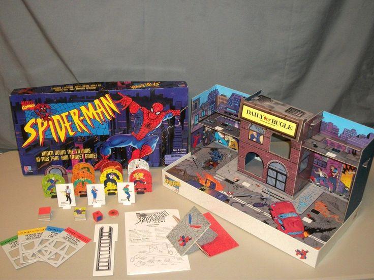 1995 Milton Bradley SPIDER-MAN Marvel Daily Bugle 3D Target Board Game COMPLETE | eBay