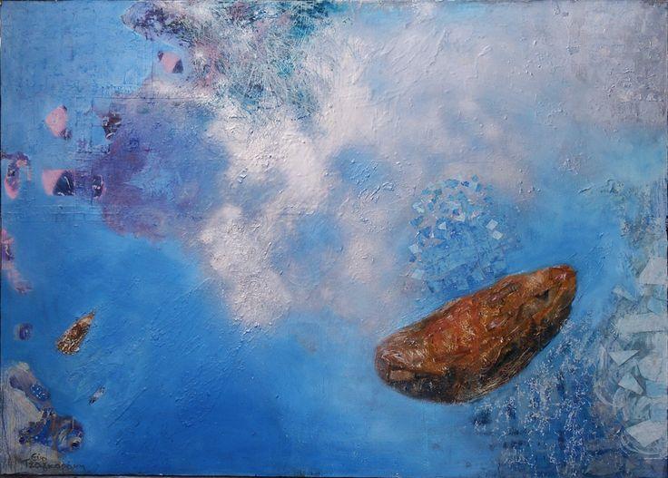 """""""Όνειρο"""" 200x150cm μικτή τεχνική σε καμβά. """"Dream"""" 200x150cm mixed media on canvas."""