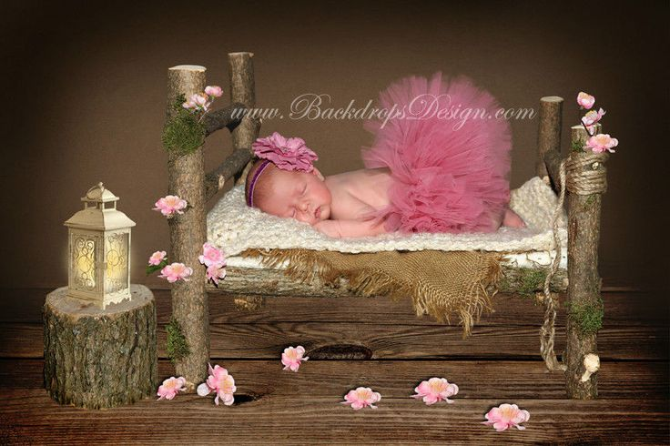 Newborn Headband Tutu skirt with Headband set photo prop for our log bed