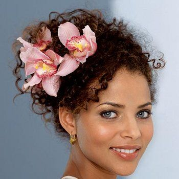 curly hair updo (not the flowers, the hairstyle)