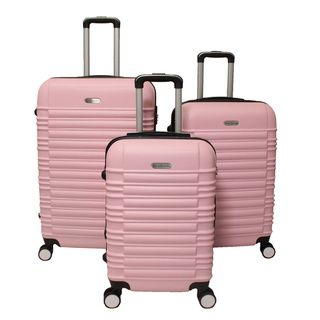 Travel in style on your next adventure with the World Traveler California 3-piece, hardside, expandable spinner luggage set. This luggage set is made of ABS and can withstand even the harshest travel